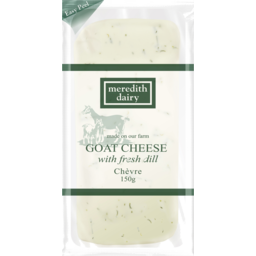 Photo of Meredith Dairy Goat Cheese Chevre Fresh Dill 150g