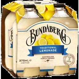 Photo of Bundaberg Traditional Lemonade 375ml 4 Pack