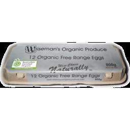 Photo of Wisemans Organic Eggs 800gm