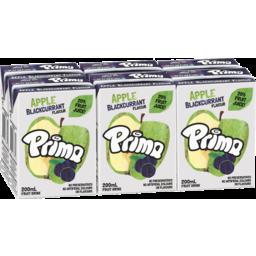 Photo of Prima Apple Blackcurrant Flavour Fruit Drink 6x200ml