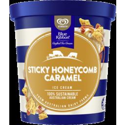 Photo of Blue Ribbon Ice Cream Sticky Honeycomb Caramel 1 Ltr