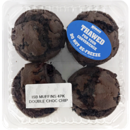 Photo of Double Choc Chip Muffins 4 Pack