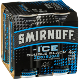 Photo of Smirnoff Ice Double Black Zero Sugar Cans