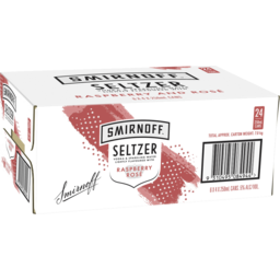 Photo of Smirnoff Seltzer Raspberry Rosè Cans