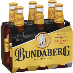 Photo of Bundaberg UP Rum & Cola Bottles
