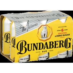 Photo of Bundaberg Rum Bare Can 375ml 6 Pack