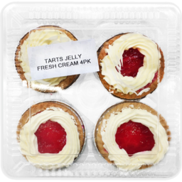 Photo of Fresh Cream Jelly Tarts 4 Pack