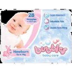Photo of Bubbles Newborn Nappies 28pk