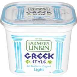Photo of Farmers Union Light Greek Style Natural Yogurt 1kg