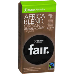 Photo of Oxfam Fair Africa Blend Ground Coffee 250gm