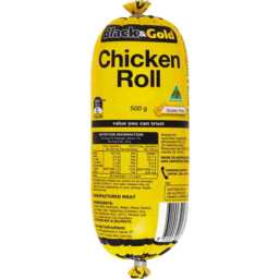 Photo of Black & Gold Chicken Roll 500g