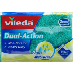 Photo of Vileda Non-Scratch Scouring Sponge 2pk