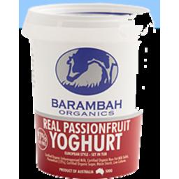 Photo of Barambah Yoghurt Passionfruit 200g