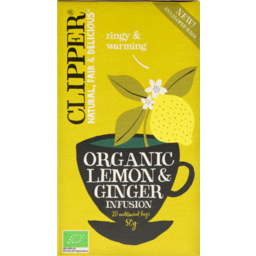 Photo of Clipper Organic Lemon & Ginger Infusion 20 Bags
