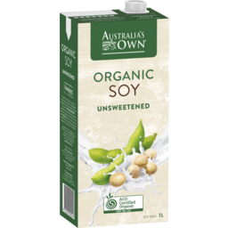 Photo of Australia's Own Organic Soy Milk Unsweetened 1l