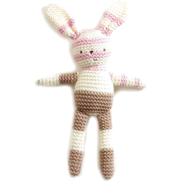 Photo of Natures Purest Knitted Bunny- Pink/Cream/Brown