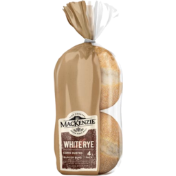 Photo of Mackenzie Burger Bun White Rye 4 Pack