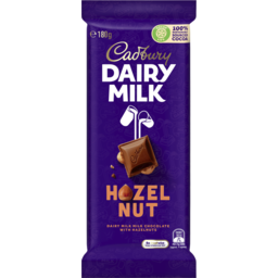 Photo of Cadbury Dairy Milk Hazelnut Milk Chocolate Block 180g