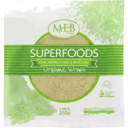 Photo of Superfoods Organic Chia, Spinach, Kale & Broccoli Wraps
