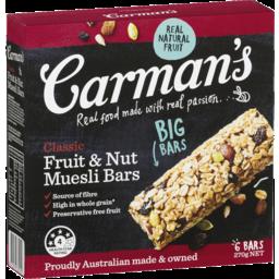 Photo of Carmans Classic Fruit Muesli Bars (6x270g)