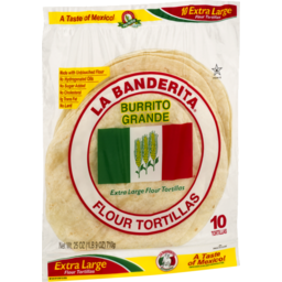 Photo of La Banderita Burrito Grande Extra Large Flour Tortillas - 10 Ct