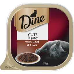 Photo of Dine Cat Food Beef & Liver In A Rich Gravy 85g