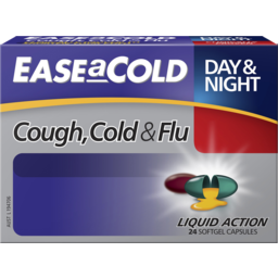 Photo of Ease A Cold Cough, Cold & Flu Day & Night Maximum Strength 24 Liquid Capsules