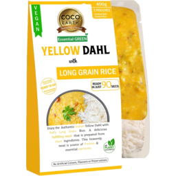 Photo of Coco Earth Yellow Dahl With Long Grain Rice 400g
