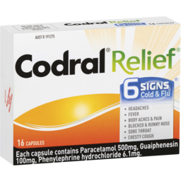 Photo of Codral Relief 6 Signs 16 Capsules
