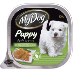 Photo of My Dog Puppy Soft Lamb Topped With Vegetables 100gm