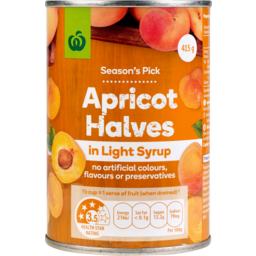 Photo of WW Apricot Halves in Light Syrup 415g