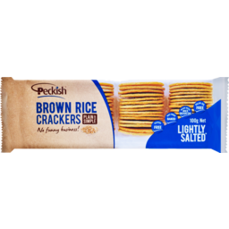 Photo of Peckish Rice Cracker Brown Lightly Salted 100g