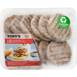 Photo of Tonys Patties Beef Burger Quarter Pounder 12 Pack