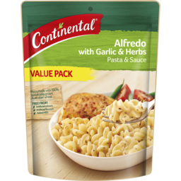 Photo of Continental Pasta & Sauce Alfredo With Garlic & Herb Value Pack 145g 145g