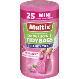 Photo of Multix Colour Scents Handy Ties Tidy Bags Mini 25 Pack | Rose Scent