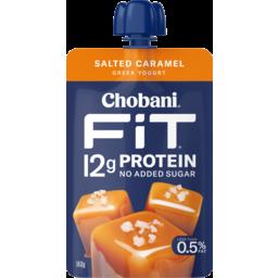 Photo of Chobani Fit Salted Caramel Greek Yogurt Pouch 140g