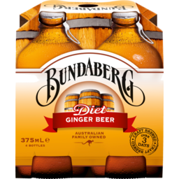 Photo of Bundaberg Diet Ginger Beer 4x375ml Bottles
