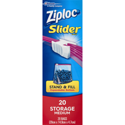 Photo of Ziploc Storage Slider Medium 20s