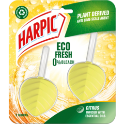Photo of Harpic Eco Fresh Citrus Infused With Essential Oils In The Bowl Toilet Cleaner 2 Pack