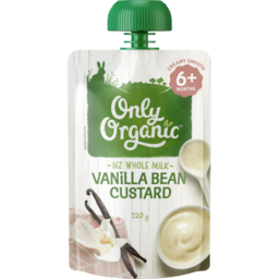 Photo of Only Organic Vanilla Bean Custard 120g