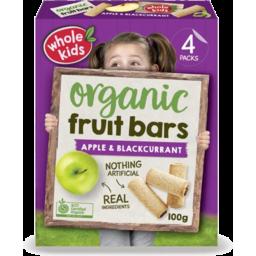 Photo of Whole Kids Apple B/Currant Bar 4pk 100g