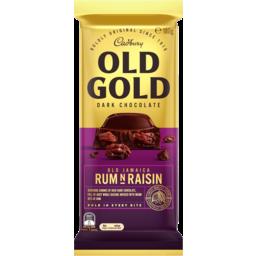 Photo of Cadbury Old Gold Dark Chocolate Old Jamaica Rum N Raisin 180g