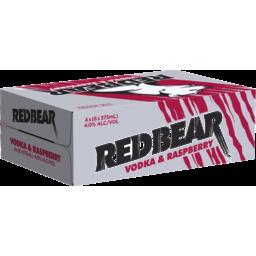 Photo of Red Bear Vodka Raspberry 375ml 24 Pack