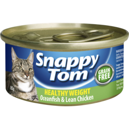 Photo of Snappy Tom Healthy Weight Cat Food Oceanfish & Lean Chicken 85g