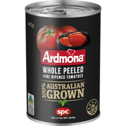 Photo of Ardmona Whole Peeled Vine Ripened Tomatoes 400g