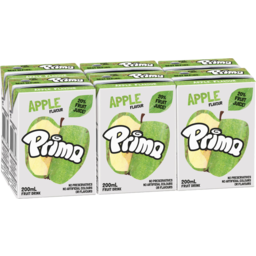 Photo of Prima Apple Flavour Fruit Drink 6x200ml