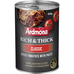 Photo of Ardmona Rich & Thick Diced Tomatoes With Paste Classic 410g