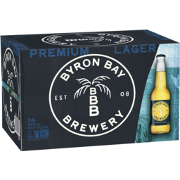 Photo of Byron Bay Brewery Premium Lager 355ml 24 Pack