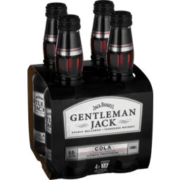 Photo of Gentleman Jack & Cola Bottles - 4 x 330ml