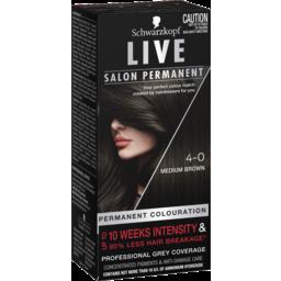 Photo of Schwarzkopf Live Salon Permanent 4-0 Medium Brown